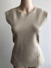 NWT $730 Salvatore Ferragamo Women's Sleeveless Blouse Cream Size XL Italy