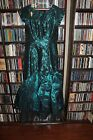 Loralie Original Irridesent Green 80's Formal Prom Party Dress Ladies sz 4 (JR)