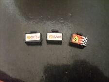 Lot Pièces recherchées/accessoires LEGO RACERS: 3 VALISES FERRARI & SHELL TBE