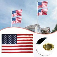 3' x 5' FT USA US U.S. American Flag Polyester Stars Brass Grommets Stripes~