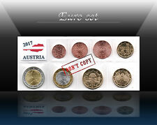AUSTRIA complete EURO SET - 8 coins SET 2017 (1 cent - 2 Euro) UNCIRCULATED