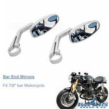 "7/8"" Handle Bar End Motorbike Rear View Side Mirrors For Honda Grom Yamaha MT-07"