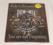 "12"" X 15"" TIN SIGN POW MIA YOU ARE NOT FORGOTTEN BRING THEM HOME METAL SIGN NEW"