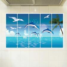 Dolphin Kitchen Bathroom Waterproof Sticker Tile For Wall Sticker Home Decor