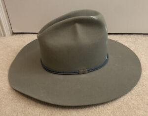 Vintage Resistol 4X Beaver Felt Hat 7 1/8 - Self-Conforming - Grey