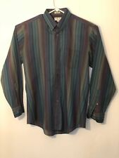 Monte Carlo mens Large long sleeve button down shirt multicolored stripes