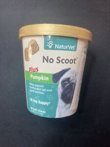 NaturVet Dog Puppy No Scoot Itchy Butt Plus Pumpkin Soft Chew - 60ct Soft Chews