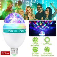 RGB Magic Rotating Ball Effect Led Stage Lights 3W KTV Party Club Bar Disco DJ