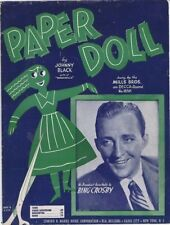 Paper Doll, Bing Crosby photo, 1943, Vintage Sheet Music