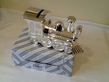 silver plated train money box,new by shudehill,rrp£ 19.99