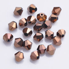 100/50Pcs Mixed Color Faceted Glass Crystal Beads Loose Bicone Spacer Bead 6mm