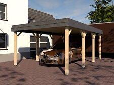 Carport Walmdach ASSEN VII 400x600cm Konstruktionsvollholz KVH Fichte NEU