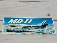 McDonnell Douglas MD-11 Aircraft bumper Sticker Decal Collectible Vintage