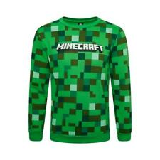 Boys Kids Green MINECRAFT Pixel Sweatshirt Jumper Long Sleeve Top