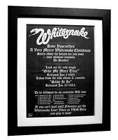 WHITESNAKE+More Time+Slide+POSTER+AD+RARE ORIGINAL 1983+FRAMED+FAST GLOBAL SHIP