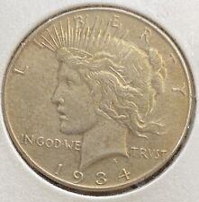 1934 P Peace Dollar Nice AU