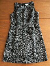 NEW Ann Taylor LOFT Women's Petite Size 10P Black & Gray Damask Sheath Dress