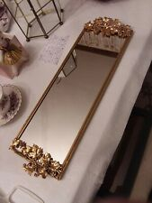 New ListingVintage Stylebuilt 24K gold plated leaves and grapes vanity mirror tray #497