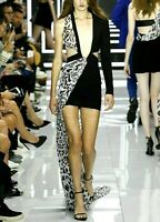 New NWT Versus Gianni Versace Vaccarello Maxi Long Gown Runway Dress US 2 IT 38