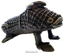 "Frog Candlestick Candle Holder Unique Tribal Bronze Sculptured 9 cm / 3.8 "" Wide"