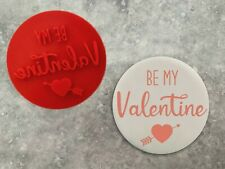 Be My Valentine Embosser Stamp Red Valentine's Cookie Fondant