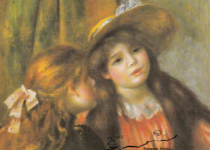 Kunstpostkarte - Renoir:   Bildnis zweier Mädchen