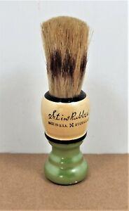 Vintage Shaving Brush - Set In Rubber - Sterilized - Made In USA - Excellent