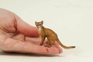 OOAK  Handmade ~ Abyssinian Cat ~ Miniature Dollhouse Sculpture