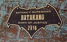 CUSTOM BATARANG DISPLAY PLACARD BATMAN DAWN OF JUSTICE SUPERMAN