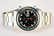 Rare Vintage Seiko 6139-6012 Day Date 70m Chronograph Automatic S.Steel Watch