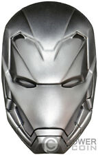 IRON MAN MASK Marvel 2 Oz Silver Coin 5$ Fiji 2019