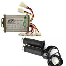 New Listing36V 800W Brush Speed Controller + Throttle Grips Electric Scooter Moped Bike