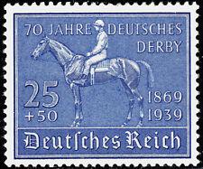 Deutsches Reich 698 ** 70 Jahre Deutsches Derby, Oberrand postfrisch
