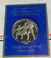 Sterling Silver Medal 1971 Postmasters of America Medallic 1st Day Bicentennial