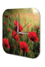 Orologio da parete Arredamento Cucina   Campo di papaveri Acrylglas