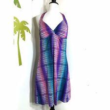 Tommy Bahama Ombre Scallop Multi Purple Pink Blue Halter Spa Sun Dress Swim Suit