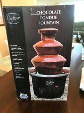 CROFTON CHOCOLATE FONDUE FOUNTAIN WATERFALL HEATED MACHINE MAKER HOME PARTY