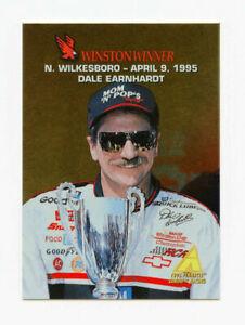 Dale Earnhardt 1995 Zenith Winston Winners All Gold Foil Insert Card Pinnacle #7