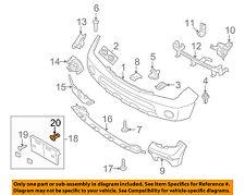 NISSAN OEM Front Bumper-License Bracket Grommet 6228481F00