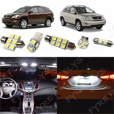 15x White LED lights interior package kit for 2003-2009 Lexus RX LR2W