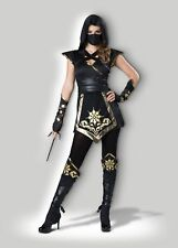 In Character Womens Elite Ninja Mystique Costume Black and Gold Large