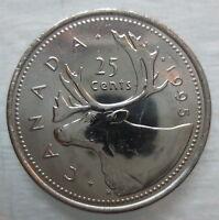 1995 CANADA 25¢ BRILLIANT UNCIRCULATED QUARTER COIN