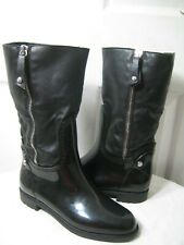 Stuart Wietzman Snowflake Faux Fur Boot Women's Size 38 / 8 Made In ITALY.