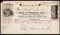 1898 Allentown Pa - Plumbers Water Filters Shafer Willenbecher Bros Letter Head