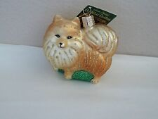 Pomeranian Old World Christmas glass ornament