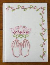 Handmade Journal Lotus Embroidery Jenny Hart Sublime Stitching Yoga Diary Eco
