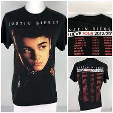 Justin Bieber Womens Medium Shirt Black Believe Tour 2012 2013 Concert USA