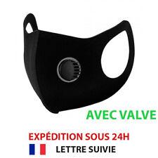 Masque Protection Valve Respirant Lavable Réutilisable