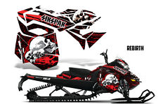 SIKSPAK Sled Wrap Ski Doo Rev XM Snowmobile Graphics Kit 2013-2016 REBIRTH RED
