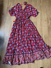 Mango Red Maxi Dress Size 14 (L )